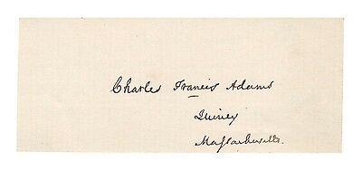 Charles Francis Adams Sr. - American Politician Autograph - Authentic!