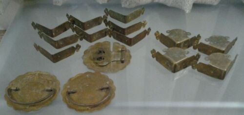 Vintage Chinese Furniture Brass Components