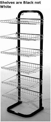 New Retail Black With Black Fixed Six Shelves Display Rack 51h X15 38w X14d