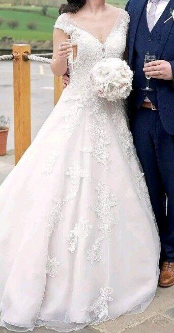 Stunning sophia tolli estelle wedding dress pink blush ivory in stunning sophia tolli estelle wedding dress pink blush ivory junglespirit Images