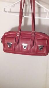 RED BRAND NEW VINTAGE *ROOTS* PURSE/BAG