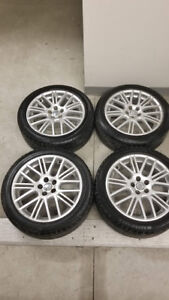 17 inch 5 X 100 Volkswagen wheels + Summer Tires 205 - 50 - R17