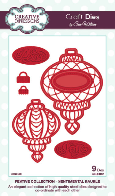 Creative Expressions Sue Wilson FESTIVE COLLECTION Sentimental Bauble CED3012