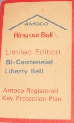 Vintage Amoco Limited Edition Bicentennial Liberty Bell Key Chain Registered Key