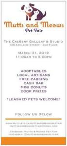 Join Us March 31, 2019!! Mutts&Meows Pet Fair