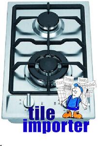 Brand New Elfa 30cm 2 Burner Stainless Steel Gas Cooktop