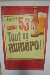 Grande affiche publicitaire bière