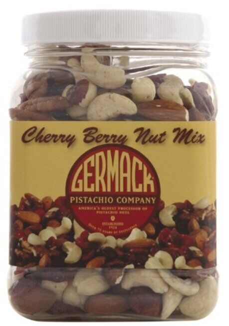 Germack Cherry Berry Snack Mix - Pack of Three jars - 16 Oz each!