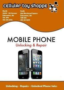 PROFESSIONAL CELLULAR PHONE REPAIRS & UNLOCKING 90 DAY WARRANTY Edmonton Edmonton Area image 1
