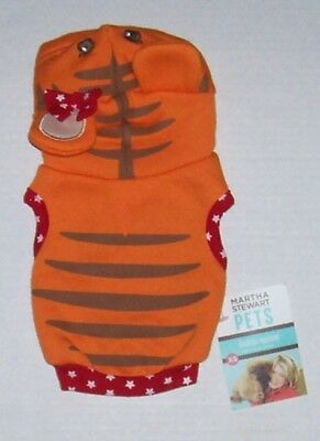 Martha Stewart Pets Tiger Dog Costume Hoodie X-Small XS Halloween