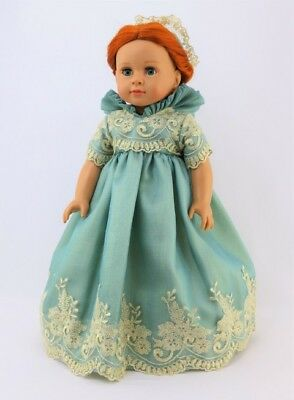 Doll Clothes Dress Royal English Queen Court Mint Gold For 18