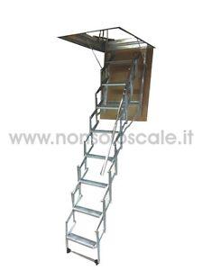 Scala retrattile soffitta botola sr cm 100x80 h pavimento soffitto cm 276 300 ebay - Scale a botola da soffitto ...