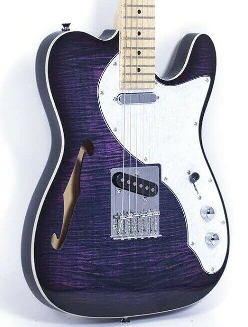 Grote Thinline Telecaster - Purple Semi Hollow Body electric Guitar