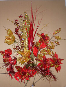 bouquet of Red and Gold Christmas flowers ... As shown Cambridge Kitchener Area image 2