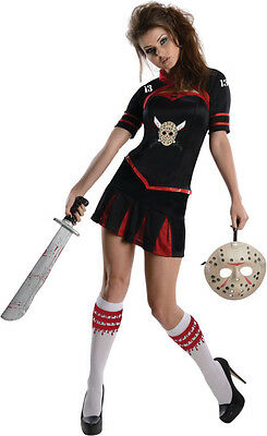 Friday the 13th Womens Cheerleader Costume Sexy Jason Voorhees Cosplay Size S