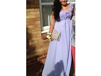 Lilac prom bridesmaid dress