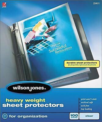 Wilson Jones Top-loading Sheet Protectors Heavy Wlj21411