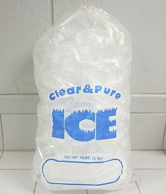 Used, CLEAR & PURE ICE 8 LB DRAWSTRING ICE BAGS *100 COUNT LOT* FREE SHIPPING for sale  Denver