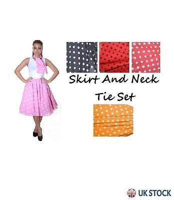 Full Circle Polka Dot Rock N Roll Skirt - Damen Rock N Roll Kostüme