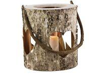 Rustic wedding bark Lanterns x10