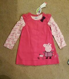 Peppa Pig dress set BNWT age 3-4