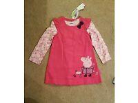 Peppa Pig dress set BNWT age 3-4
