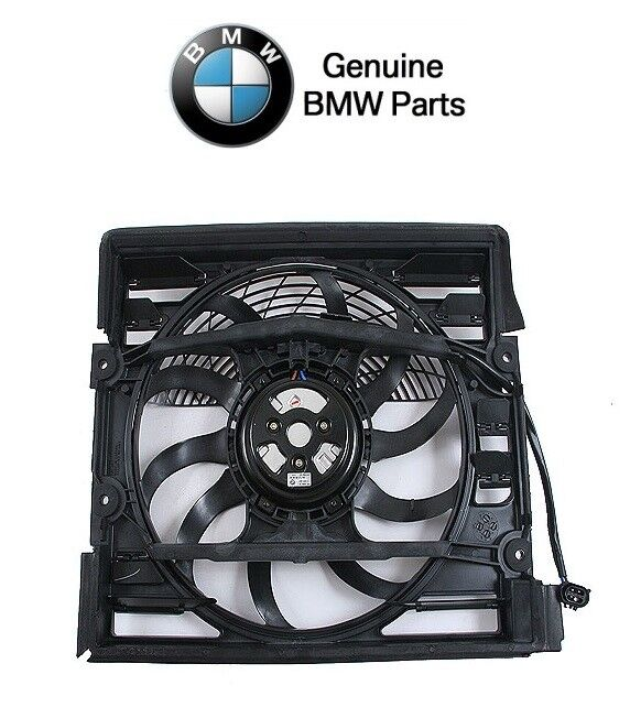 For BMW E38 7-Series Auxiliary Fan Assembly & Shroud for A/C Condenser Genuine