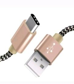 USB C Charging Cable -2 Pack - Fast Charge Cables Nylon Braided