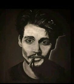 Johnny Depp painting. Handdrawn by myself!