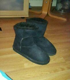 "Black ""Ugg"" boots"