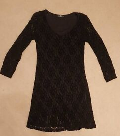 Black lace patterned dress