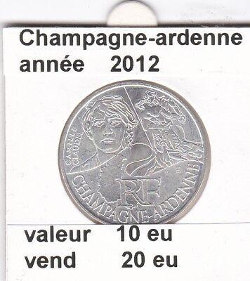 va )pieces de 10 eu champagne-ardenne  2012  33%  argent