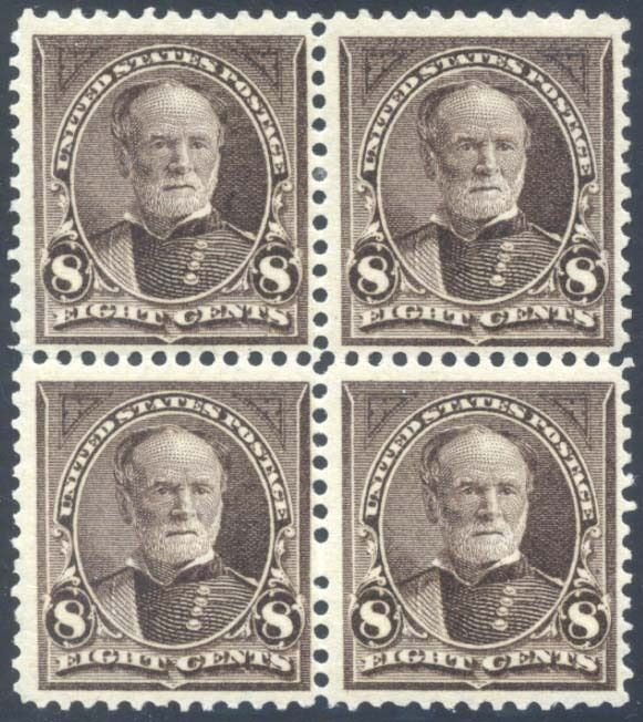 #272 Mint 8¢ Block Of 4 Vf Og (2)nh (2)lh P.o. Fresh Cv $570++ Bt1178