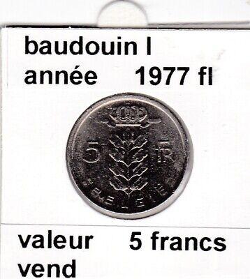 BF 2 )pieces de 5 francs baudouin I 1977 belgie &