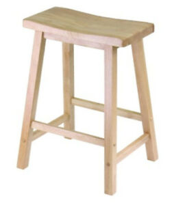 Wooden 24-Inch Saddle Seat Stools -  $35/each or $65/pair