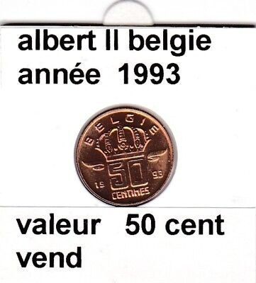 BF 1 )pieces de 50 cent belgie  1993 albert II &