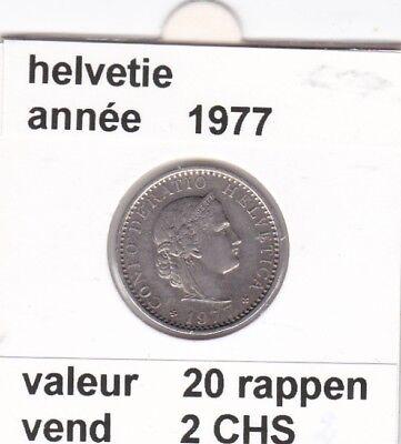 S 1) pieces suisse de 20  rappen de 1977   voir description