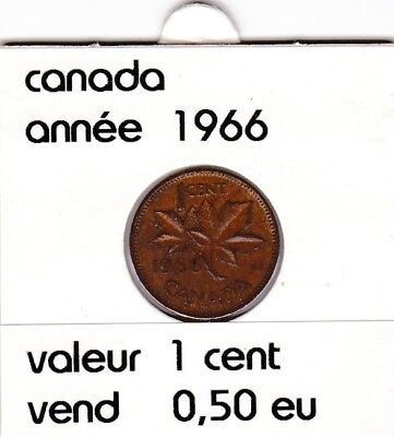 C 1 ) pieces de 1 cent  canada 1966