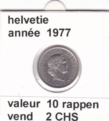 S 2) pieces suisse de 10  rappen de 1977   voir description