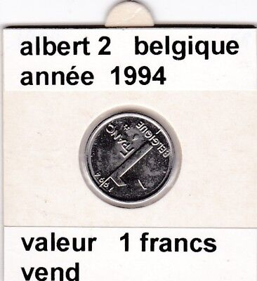FB )pieces de albert 2  1 francs 1994  belgique