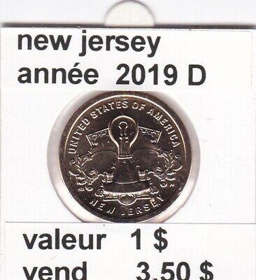 e 3 )pieces de 1 dollar de 2019 D  troisieme  serie 4 (ney jersey )