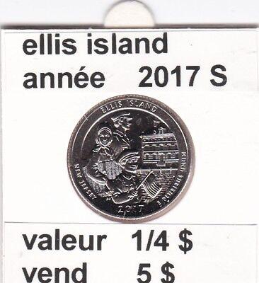 e 3)pieces de 25 cent  ellis island  2017  S