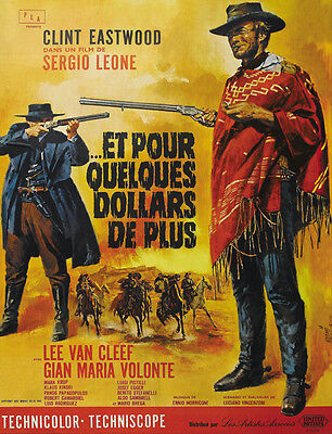 For a few dollars more 1965 Clint Eastwood cult western Movie poster print 31 on Rummage