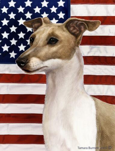 Patriotic (D2) House Flag - Italian Greyhound 32065