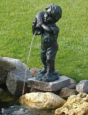 Gargoyle Yannick Pond Figure Pond Garden Figure Fountain Decoration NEW