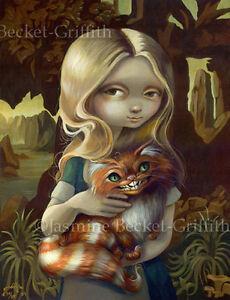 Alice-in-Wonderland-Da-Vinci-lowbrow-art-CANVAS-PRINT