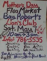 Mother's Day Flea Market supporting Helping Hands Food Bank
