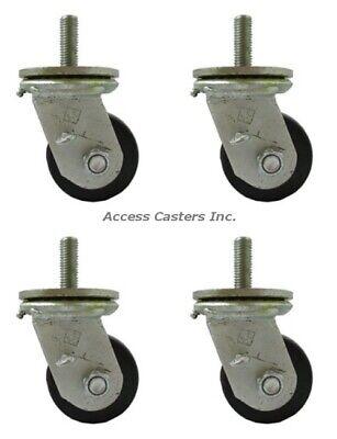 Duvenset12 Heavy Duty Vending Machine Phenolic Caster Set Of 4 4000 Lb Capacity