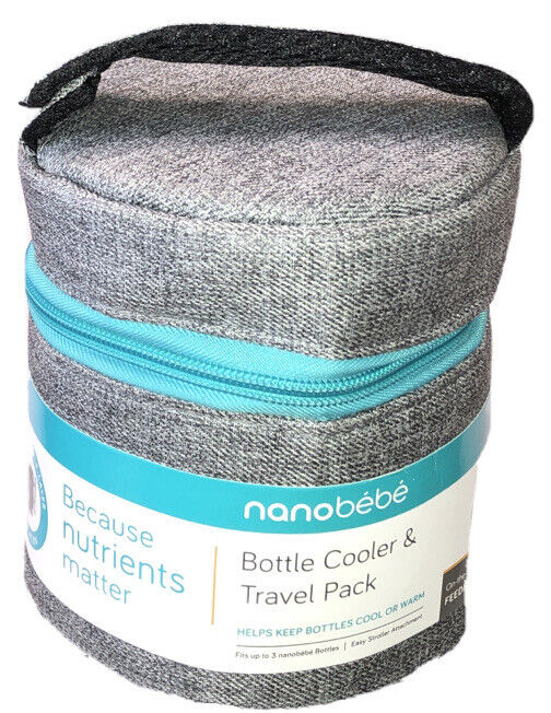 nanobebe Baby Bottle Cooler & Travel Pack Waterproof (NO Ice pack Included) NEW
