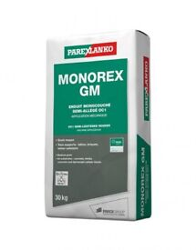 13 x 30kg bags of Parex Monorex render G30 mouse grey